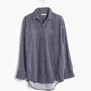 NWT Madewell Oversized Sunday Flannel in Navy